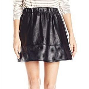 Armani exchange faux leather skirt